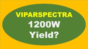 What is The VIPARSPECTRA 1200W Yield?