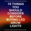 buying led grow lights